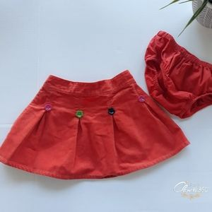Gymboree All About Buttons Corduroy Skirt Size 2T